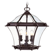 Livex Lighting 2625-07 - 3 Light Bronze Outdoor Chain Lantern