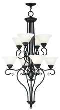 Livex Lighting 6118-07 - 8 Light Bronze Foyer Chandelier