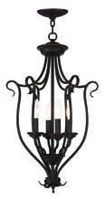 Livex Lighting 6137-07 - 4 Light Bronze Foyer Chandelier