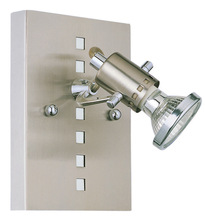 Eglo 82242A - 1x50W Wall Light w/ Matte Nickel & Chrome Finish