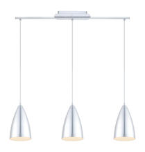 Eglo 92811A - 3x100W Multi Light Pendant w/ Brushed Aluminum Finish