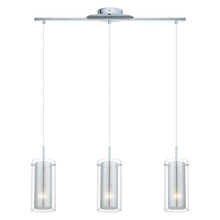 Eglo 92846A - 3x100 Multi Light Pendant w/ Chrome Finish & Clear Glass