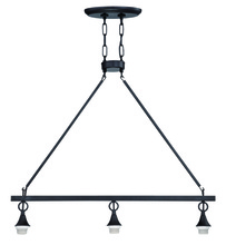 Jeremiah CP3IL-MBK - Design-A-Fixture 3 Light Island Hardware in Matte Black