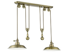 Jeremiah P402-LB - 1 Light Pulley Pendant in Legacy Brass