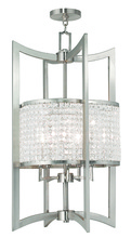 Livex Lighting 50569-91 - 5 Light Brushed Nickel Lantern