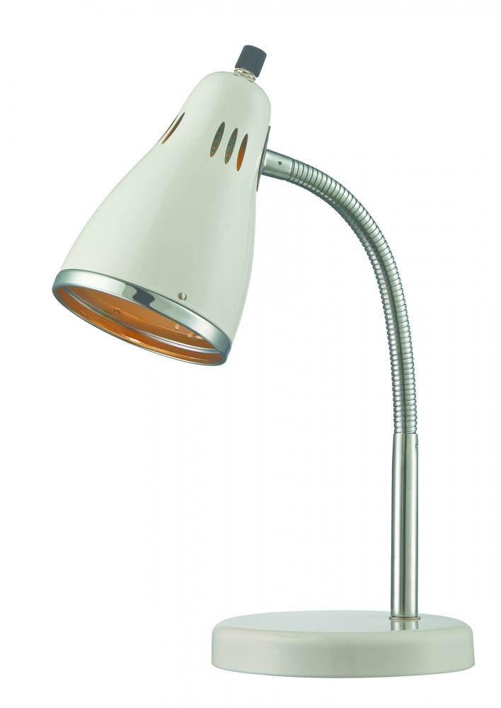 #Desk Lamp, Chrome/White, E27 Type Cfl 13W
