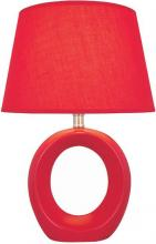 Lite Source Inc. LS-20585RED - #Table Lamp, Red Ceramic Body, Fabric Shade, E27 Cfl 13W