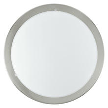 Eglo 82942A - 1x100W Ceiling Light w/ Matte Nickel Finish & Satin Glass