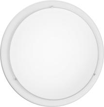 Eglo 82957A - 2x60W Ceiling Light w/ White Finish & Satin Glass
