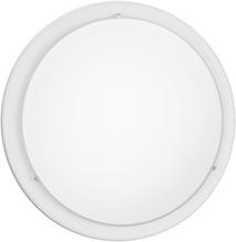 Eglo 82958A - 1x100W Ceiling Light w/ White finish & Satin Glass