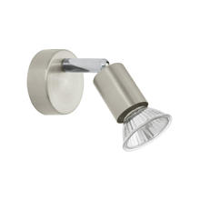Eglo 83046A - 1x50W Wall Track Light w/ Matte Nickel & Chrome Finish