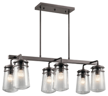 Kichler 49835AZ - Outdoor Linear Chandelier 6Lt