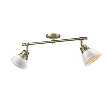 Golden 3602-2SF AB-WH - Semi-Flush - Track Light
