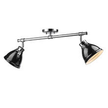 Golden 3602-2SF CH-BK - Semi-Flush - Track Light