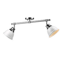 Golden 3602-2SF CH-WH - Semi-Flush - Track Light