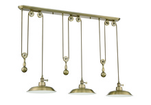 Jeremiah P403-LB - 1 Light Pulley Pendant in Legacy Brass